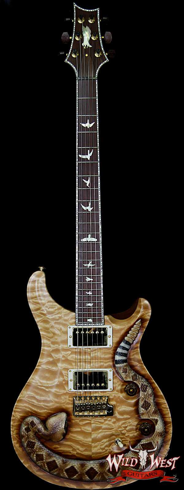 PRS Private Stock Wild West Exclusive Custom 24 Snake LTD # 6 of 6 Hand Carved Quilt Maple Top