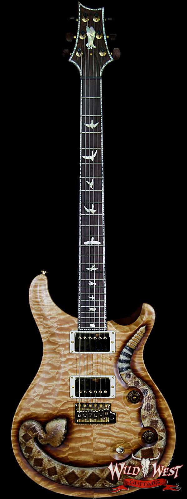 PRS Private Stock Wild West Exclusive Custom 24 Snake LTD #5 of 6 Hand Carved Quilt Maple Top