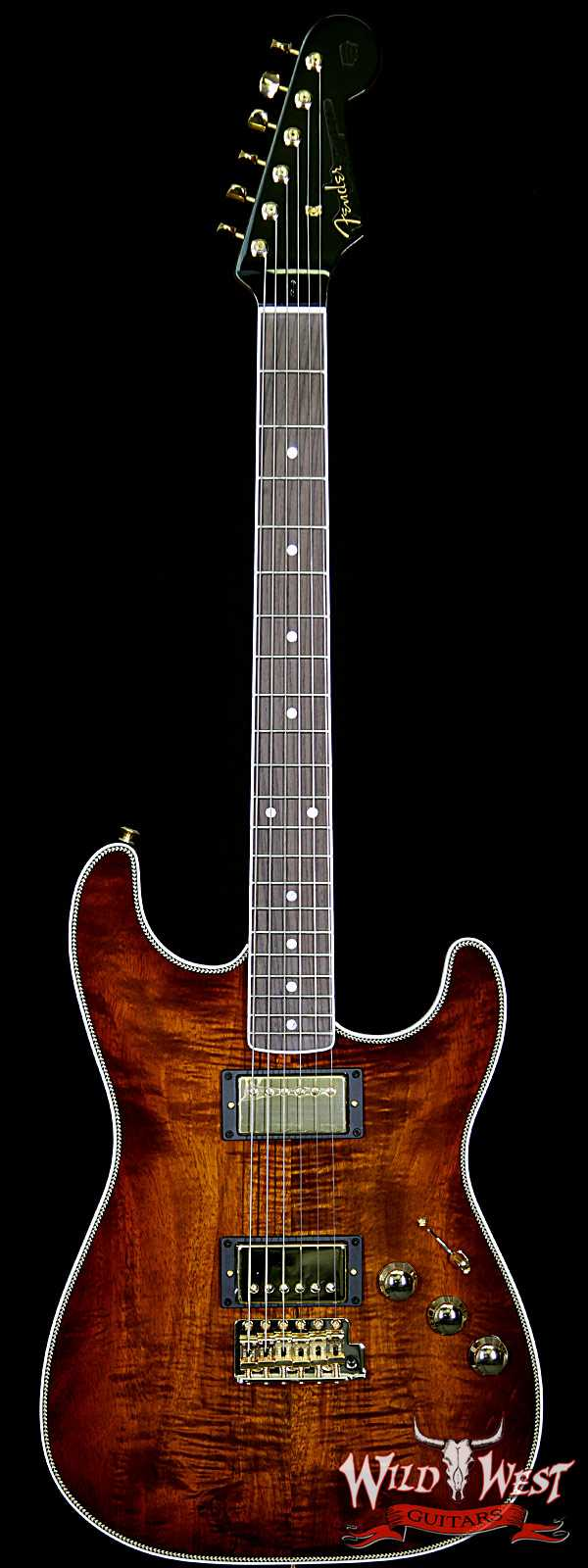 Fender Custom Shop 2018 NAMM #2005 Apprentice Built Roasted Ash Stratocaster NOS Koa Top Flame Maple Neck by Carlos Lopez