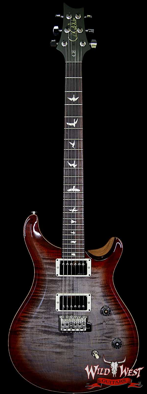 PRS WWG Special Run CE 24 Flame Maple Top 57/08 Pickups Faded Gray Black Cherry Burst