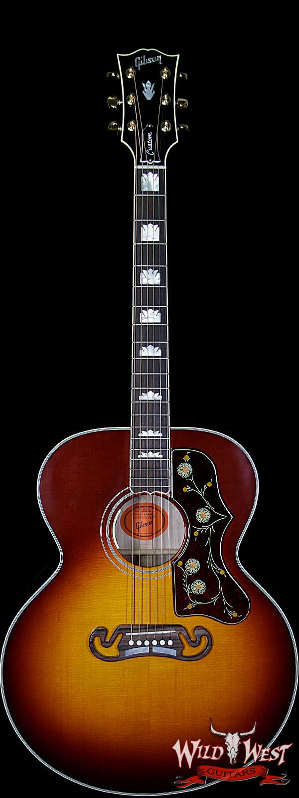 Gibson Custom Shop SJ-200 Flame Maple Side Back & Neck Rosewood Board Wildfire Burst