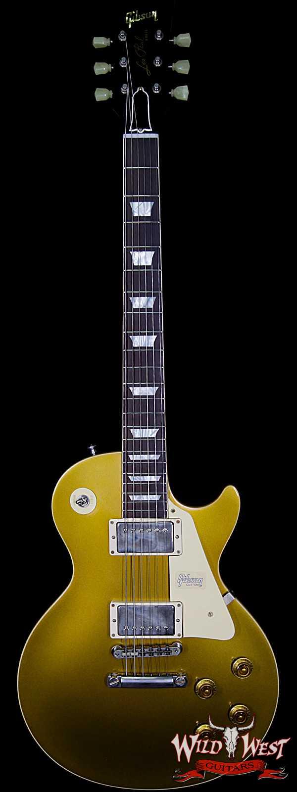 2018 Gibson Custom Shop Historic 57 Les Paul Standard VOS Brazilian Rosewood Fingerboard Goldtop 8.95 Lbs