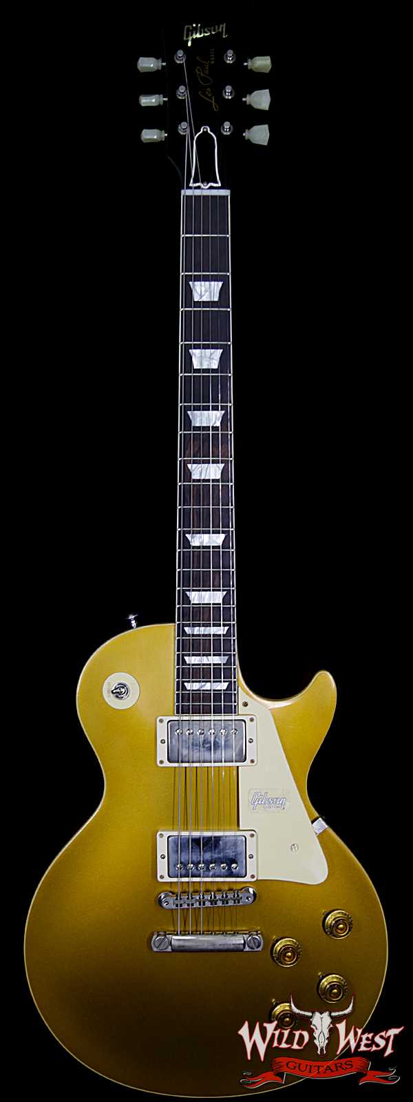 Gibson Custom Shop Historic 57 Les Paul Standard VOS Brazilian Rosewood Fingerboard Goldtop 9.25 Lbs