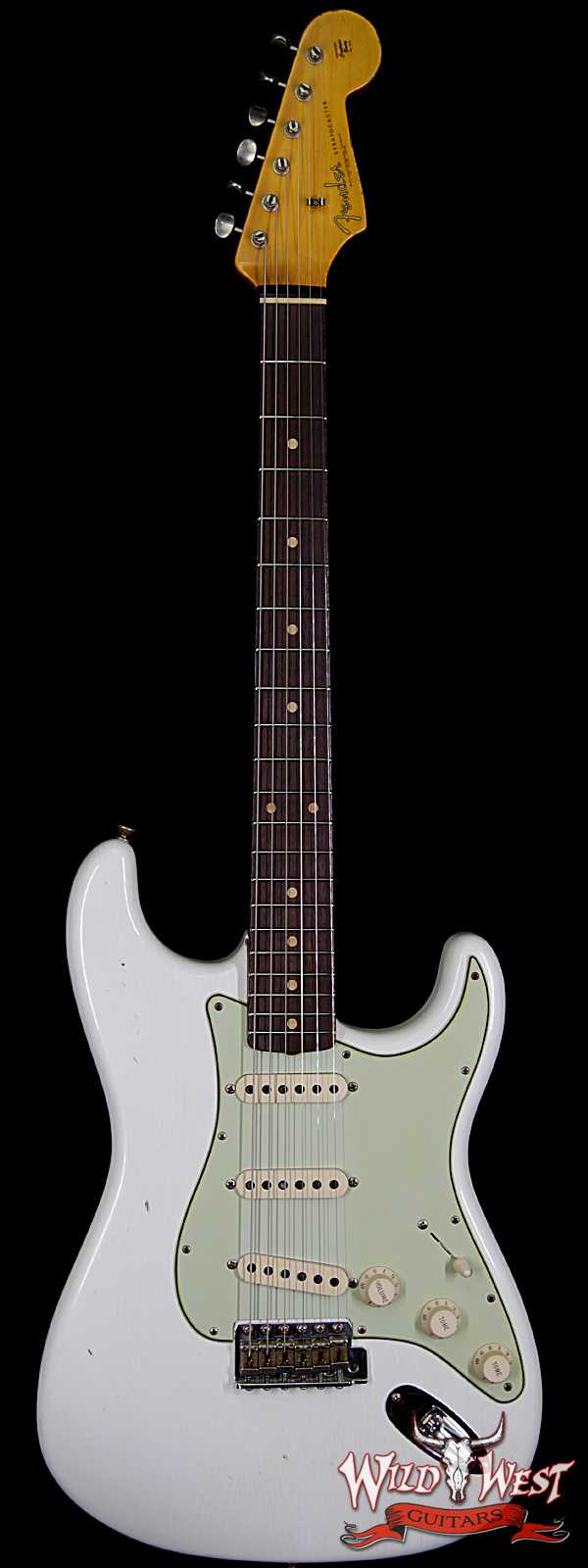 Fender Custom Shop 1961 Stratocaster Jouneyman Relic with Dirty Neck Slab Rosewood Board Olympic White