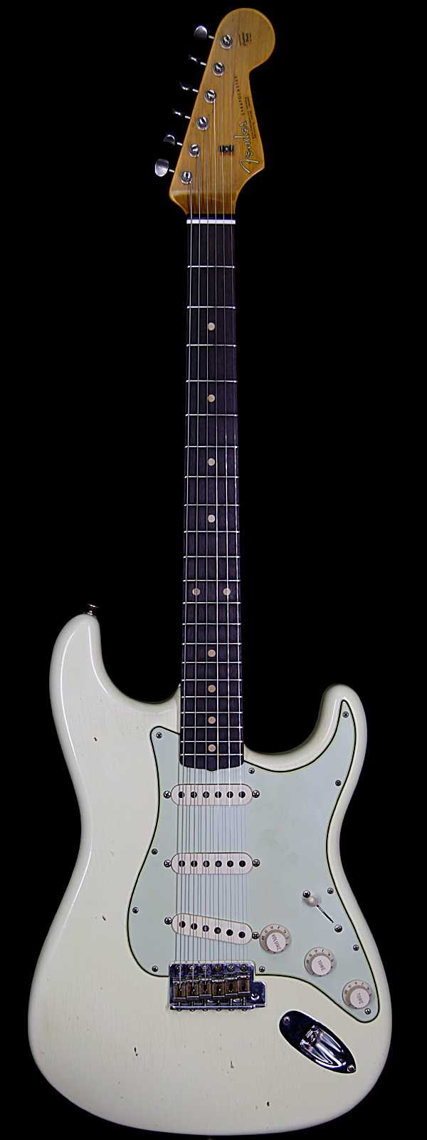 Fender Custom Shop 1963 Stratocaster Journeyman Relic with Dirty Neck Rosewood Board Vintage White