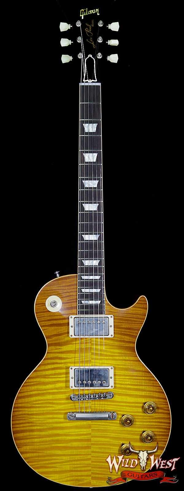 Gibson Custom Shop Historic 1959 Les Paul VOS Hand Selected Killer Top Brazilian Rosewood Board Dirty Lemon 8.90 Lbs