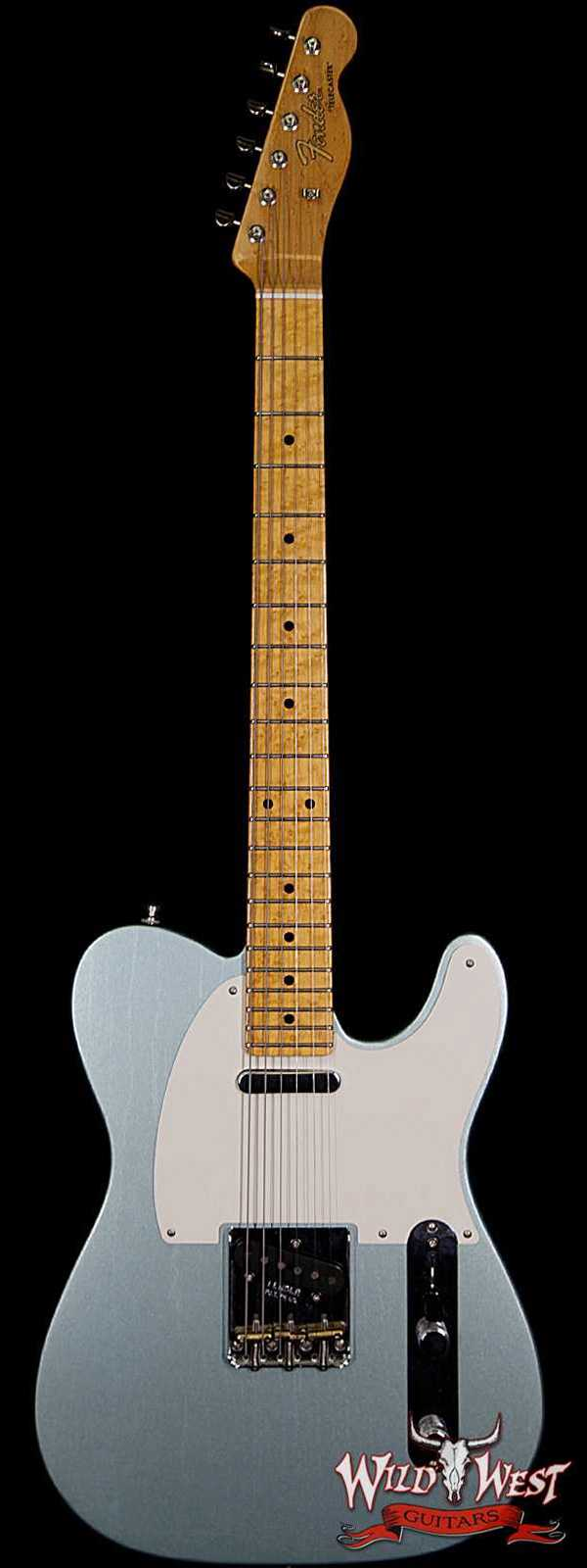 Fender Custom Shop Postmodern Telecaster Lush Closet Classic Birdseye Maple Neck Faded Firemist Silver