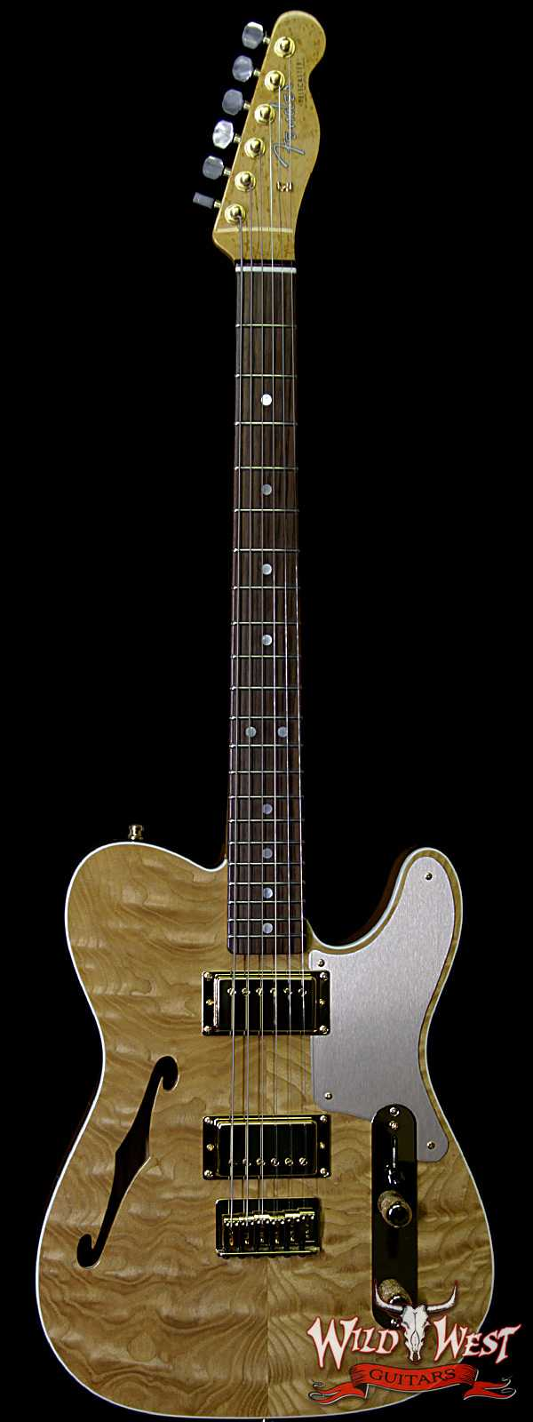 Fender Custom Shop Dennis Galuszka Masterbuilt Artisan Thinline Telecater HH Tamo Ash Top Natural