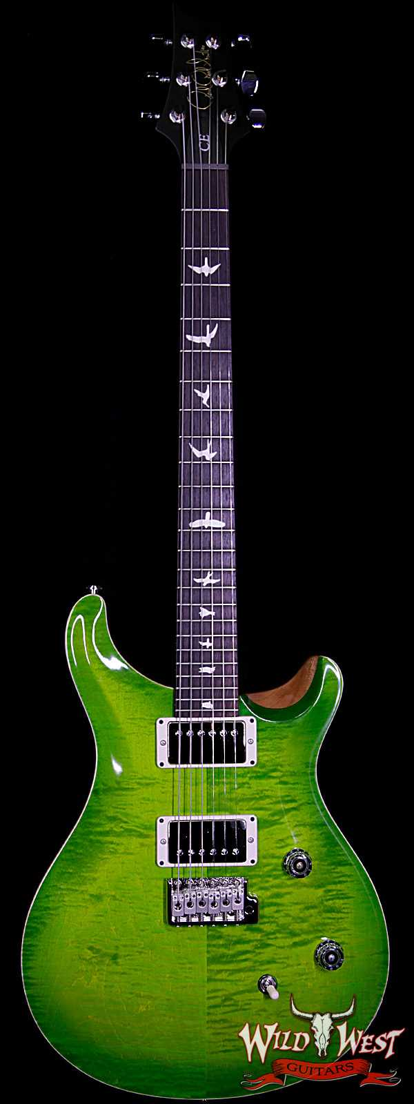 Paul Reed Smith PRS Wild West Guitars Special Run CE 24 Flame Top 57/08 Pickups Eriza Verde 253201