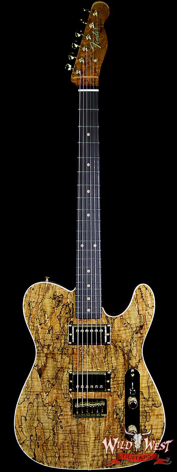 Fender Custom Shop Paul Waller Masterbuilt Artisan Spalted Maple Top Telecaster HH African Blackwood Board