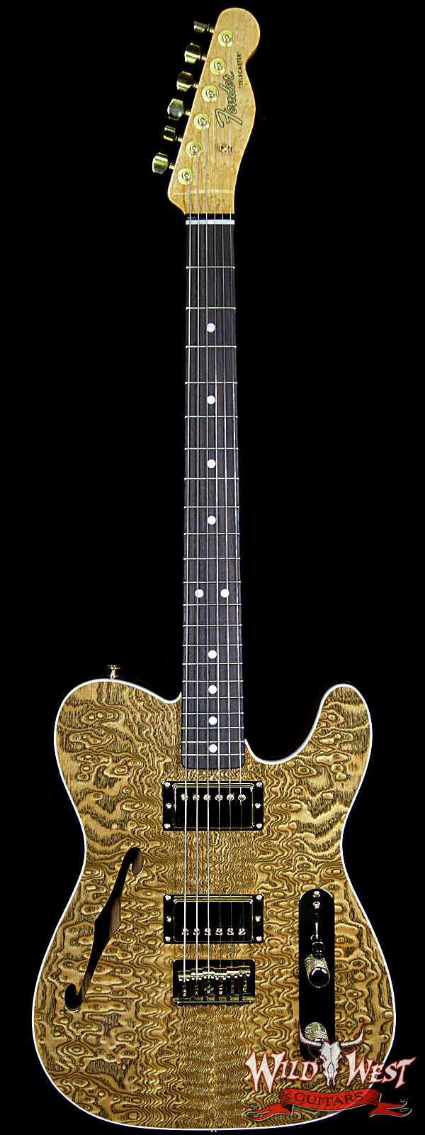 Fender Custom Shop Paul Waller Masterbuilt Artisan Thinline Telecater HH Caballo Ligero Tamo Ash Top