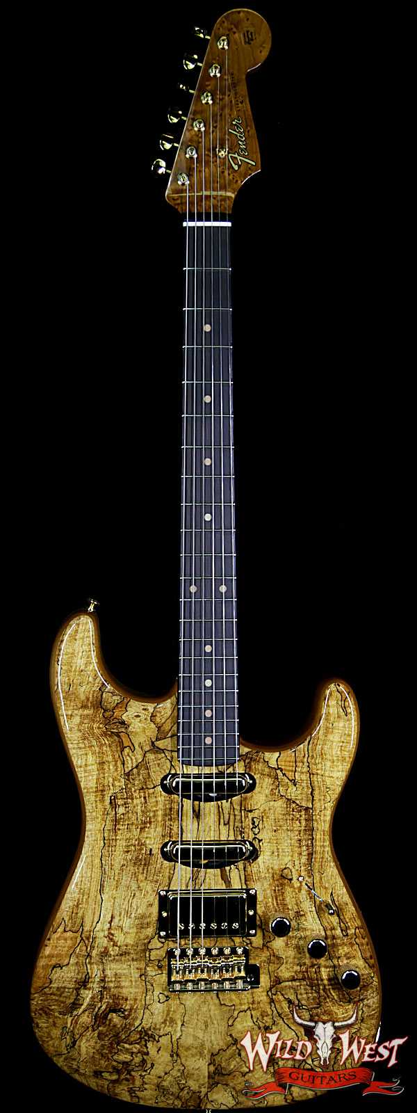 Fender Custom Shop Paul Waller Masterbuilt Artisan Spalted Maple Top Stratocaster HSS African Blackwood Board