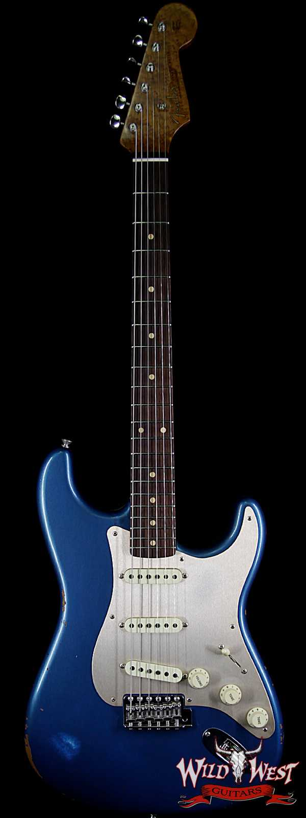 Fender Custom Shop 30th Anniversary LTD Roasted 1960 Stratocaster Relic Birdseye Neck Rosewood Board Aged Lake Placid Blue