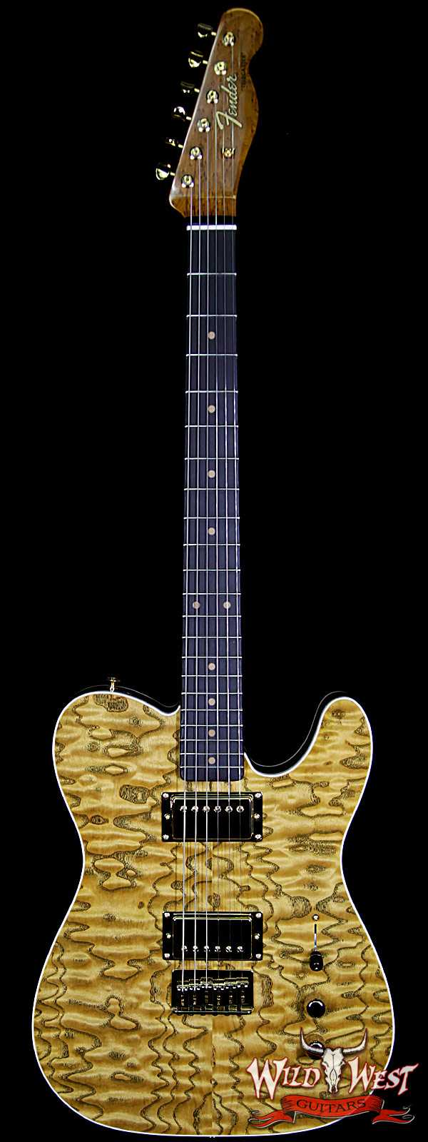 Fender Custom Shop Paul Waller Masterbuilt Artisan Tamo Ash Top Telecaster HH African Blackwood Board Natural