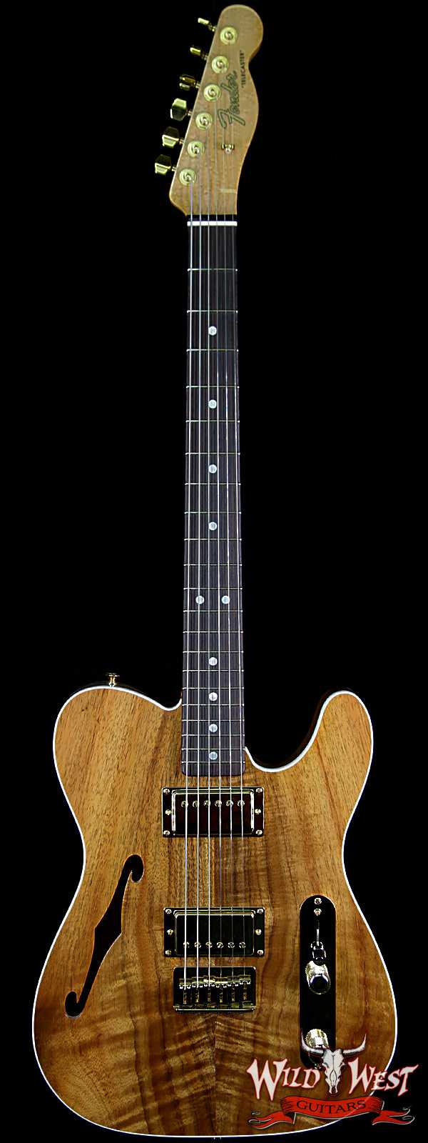 Fender Custom Shop Paul Waller Masterbuilt Artisan Thinline Telecaster HH Koa Top Birdseye Neck Rosewood Board