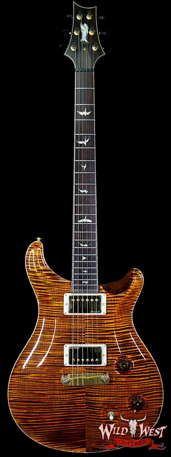 2011 PRS Private Stock #3397 Modern Eagle Flame Maple Top Brazilian Rosewood Board Electric Tiger