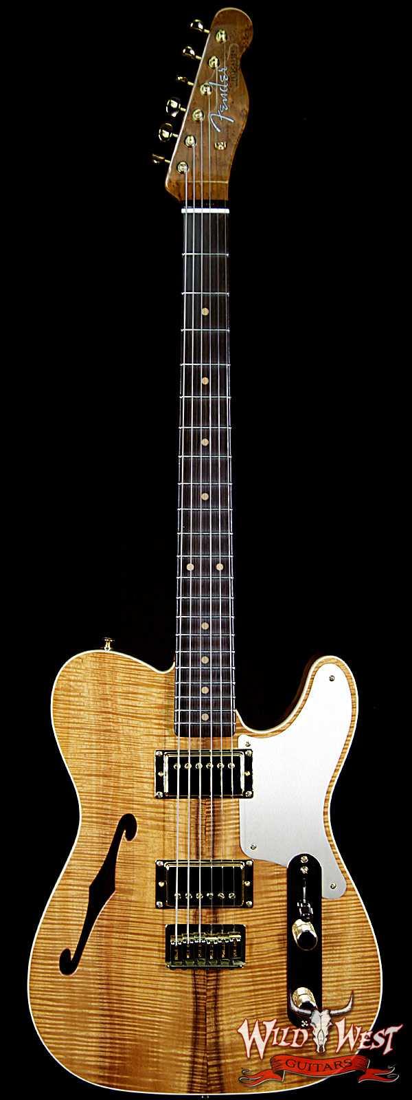 Fender Custom Shop Dennis Galuszka Masterbuilt Artisan Thinline Telecaster HH AAAA Flame Koa Top