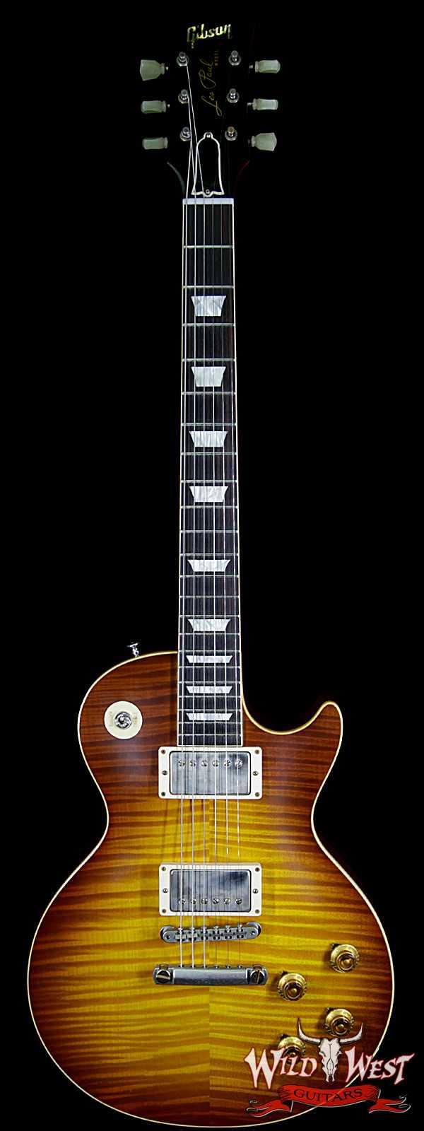 Gibson Custom Shop Historic 1959 Les Paul R9 VOS Hand Selected Killer Top Brazilian Rosewood Board Royal Teaburst 9.0 LBS
