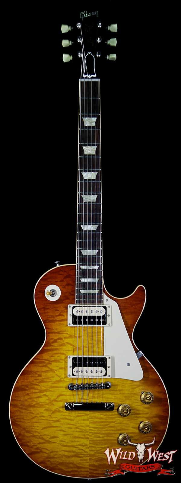 2012 Gibson Custom Shop 1959 Les Paul Gloss R9 Quilt Maple Top Honey Burst 7.75 LBS