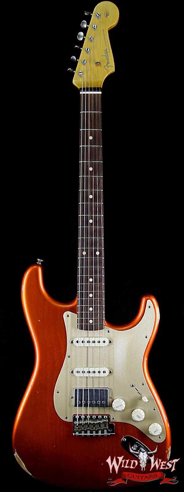 Fender Custom Shop 1962 Stratocaster Relic HSS EVH Pickup Rosewood Fingerboard Orange