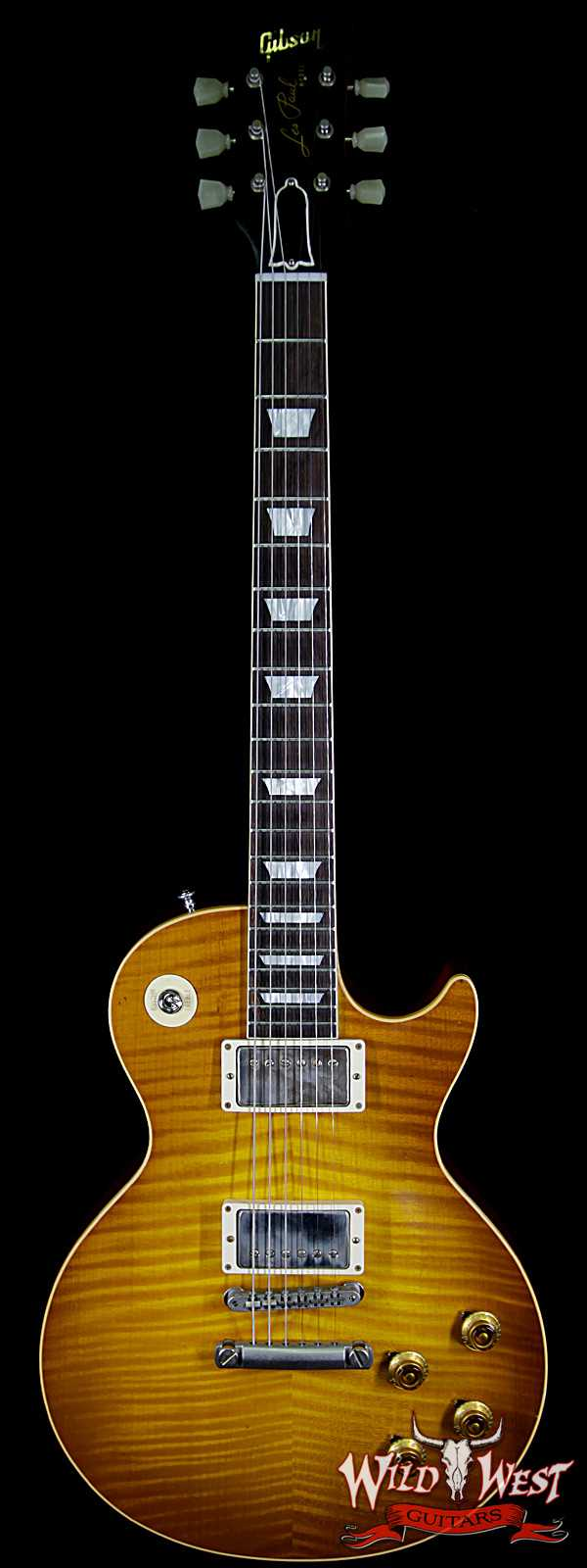 Gibson Custom Shop Historic 1959 Les Paul Lite Aged R9 Brazilian Rosewood Board Dirty Lemon 8.20 Lbs