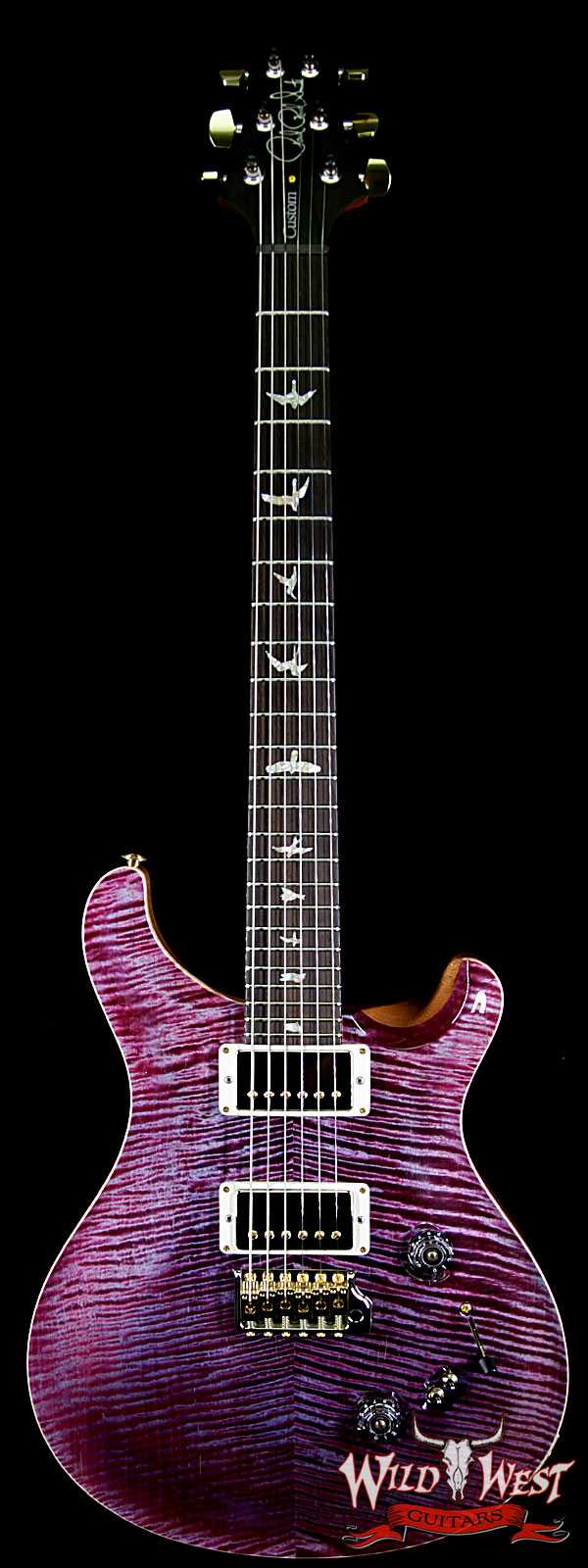 PRS Wood Library 10 Top Custom 24-08 Flame Maple Top Brazilian Rosewood Fingerborad Violet