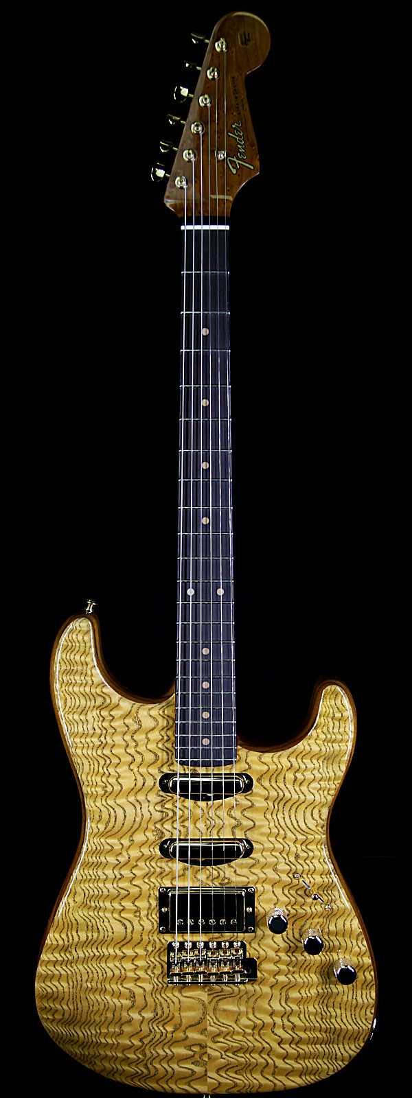 Fender Custom Shop Paul Waller Masterbuilt Artisan Stratocaster HSS Tamo Ash Top African Blackwood Board