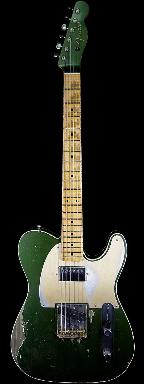 Fender Masterbuilt Dale Wilson Custom Shop 1960 Telecaster Relic Flame Maple Fingerboard Aged Cadillac Green