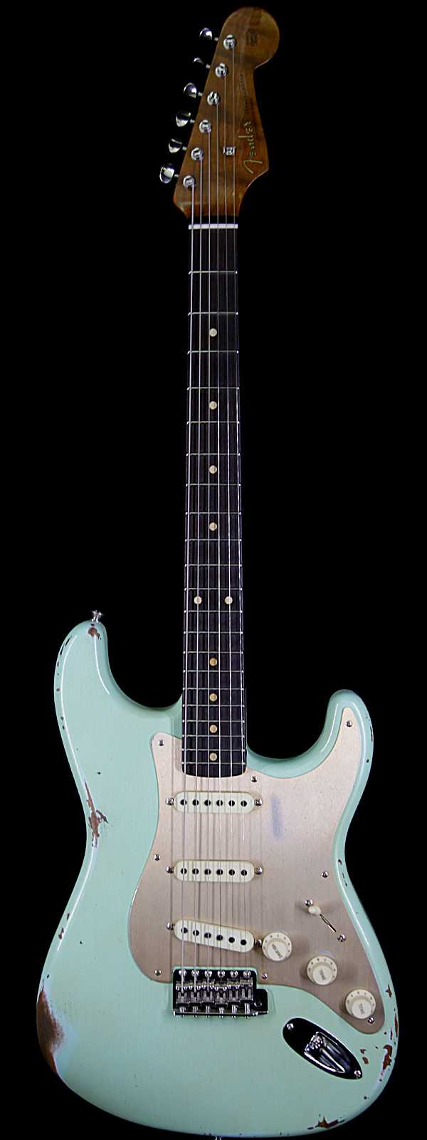 Fender Custom Shop 30th Anniversary 1960 Stratocaster Relic Roasted  Birdseye Neck Rosewood Board Aged Surf Green