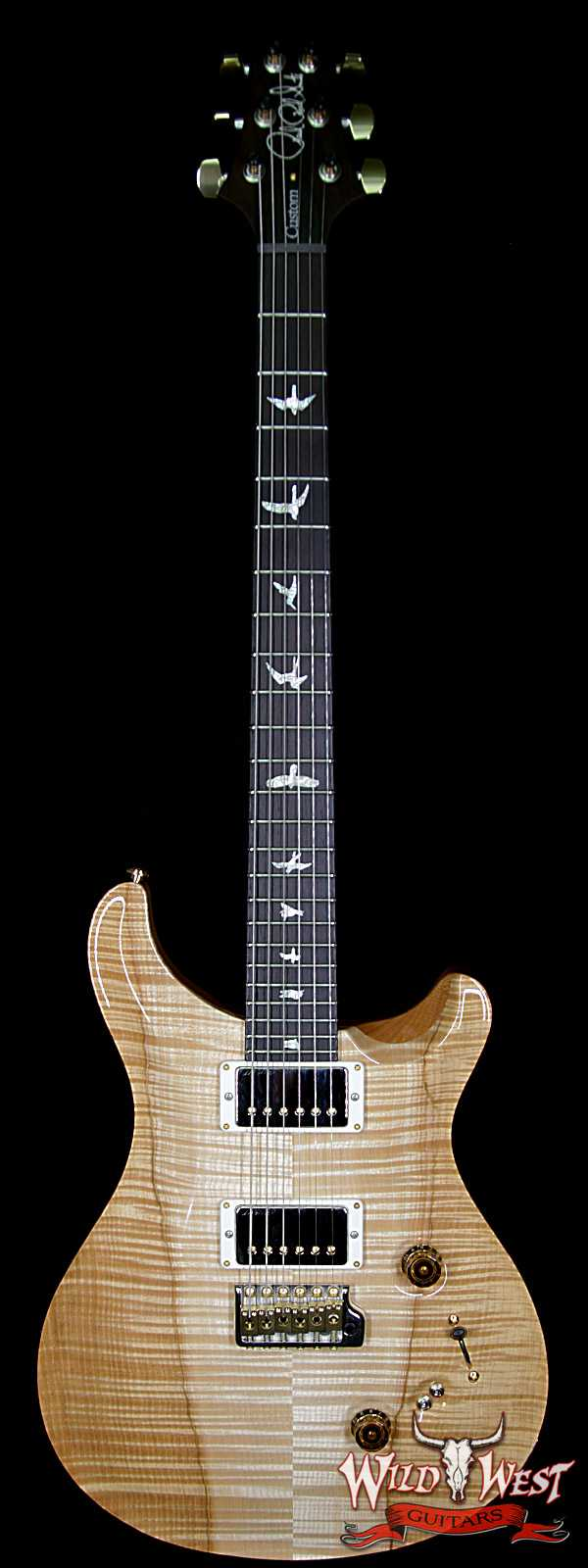 PRS Wood Library 10 Top Custom 24-08 Flame Maple Top Brazilian Rosewood Fingerboard Natural