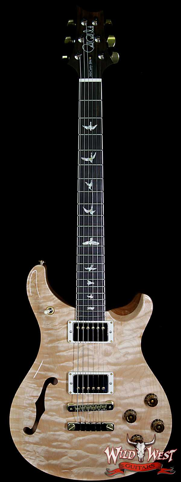PRS Wood Library Quilt 10 Top McCarty 594 Semi-Hollow Brazilian Rosewood Board Natural