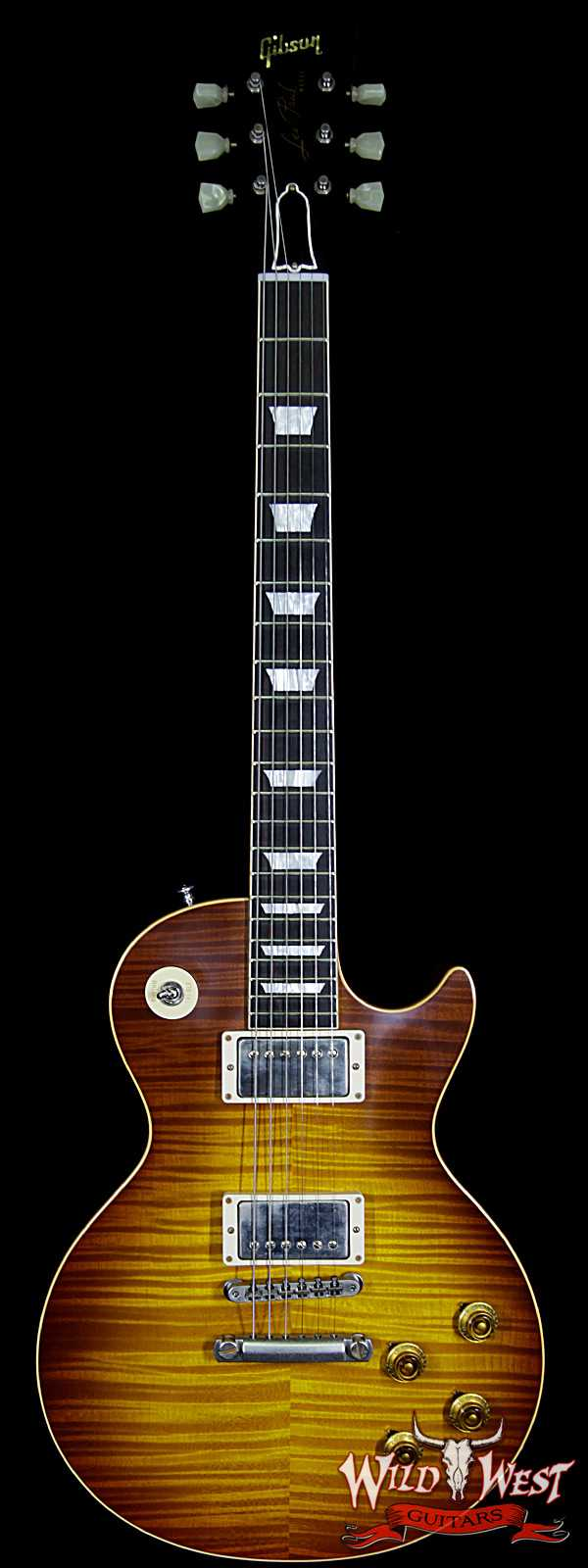 Gibson Custom Shop Historic 1959 Les Paul VOS Hand Selected Killer Top Brazilian Rosewood Board Royal Teaburst 8.80 LBS
