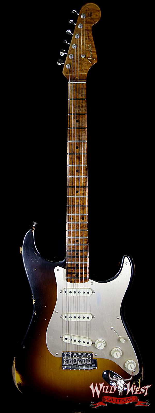 Fender Custom Shop Roasted 1956 Stratocaster Relic Birdeye Maple Neck 2 Tone Sunburst