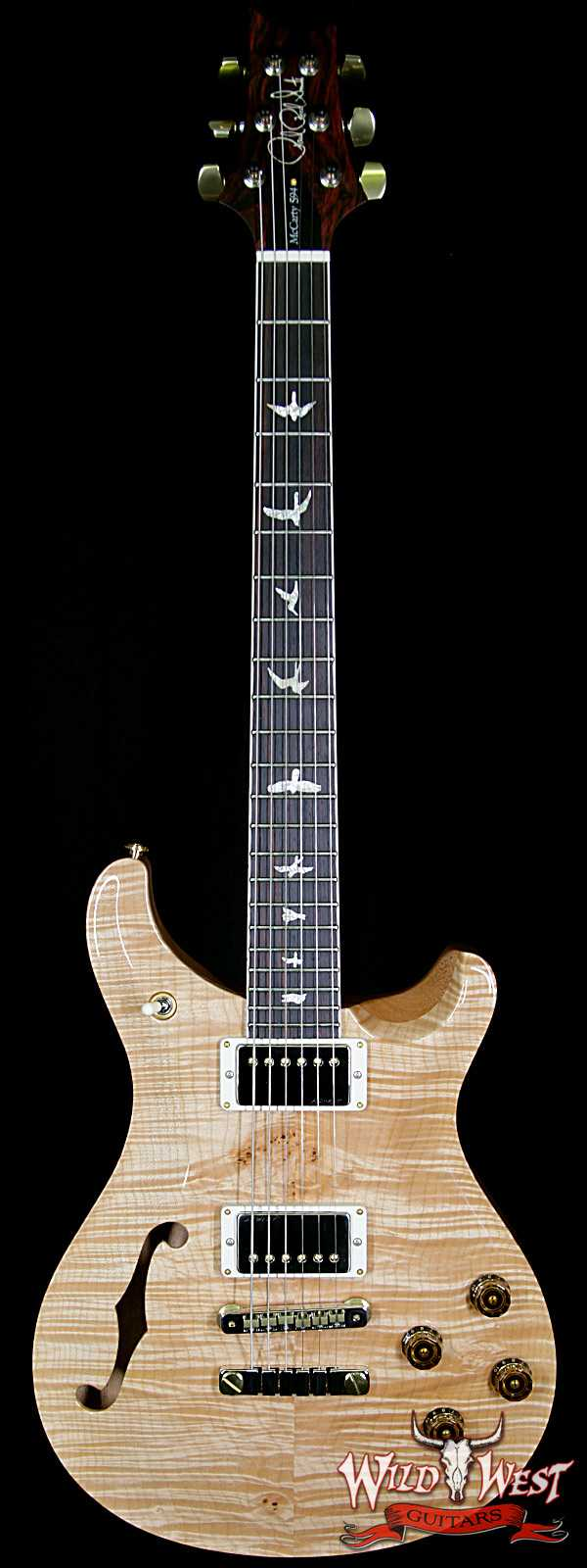 PRS Wood Library 10 Top McCarty 594 Semi-Hollow Flame Maple Top Cocobolo Fingerboard Natural