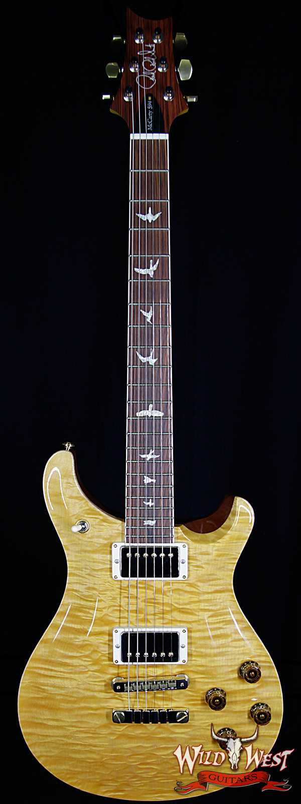 PRS Wood Library Artist Package McCarty 594 Quilt Top Flame Neck Cocobolo Fingerboard Honey