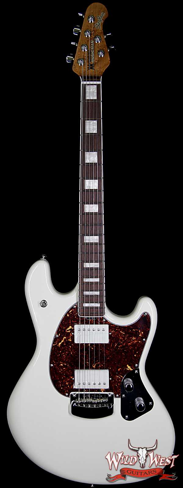 Ernie Ball Music Man BFR Limited Edition # 28 of 39 Stingray HH Guitar Roasted Birdseye Maple Neck White Smoke