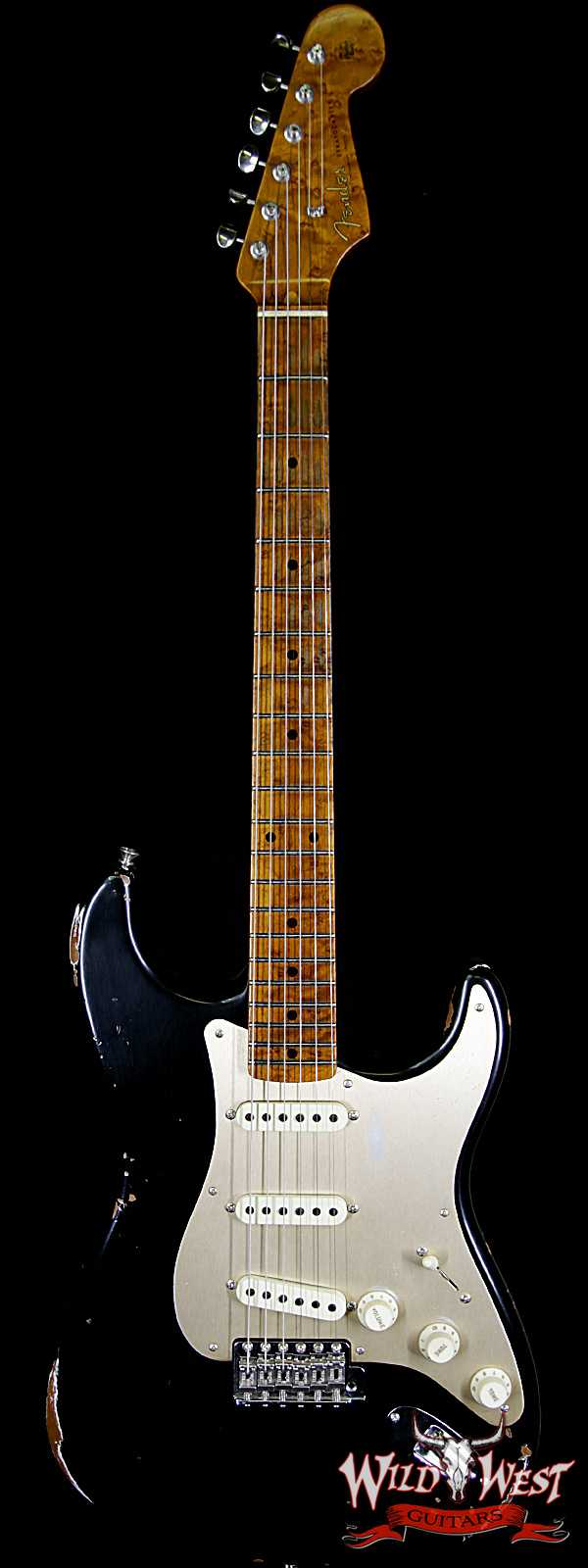 Fender Custom Shop 30th Anniversary LTD 1956 Stratocaster Relic Roasted Birdseye Neck & Fingerboard Aged Black
