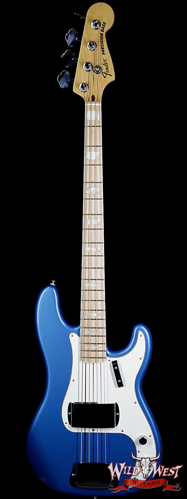 2014 Fender American Design Experience Precision Bass Maple Neck Block Inlay Lake Placid Blue