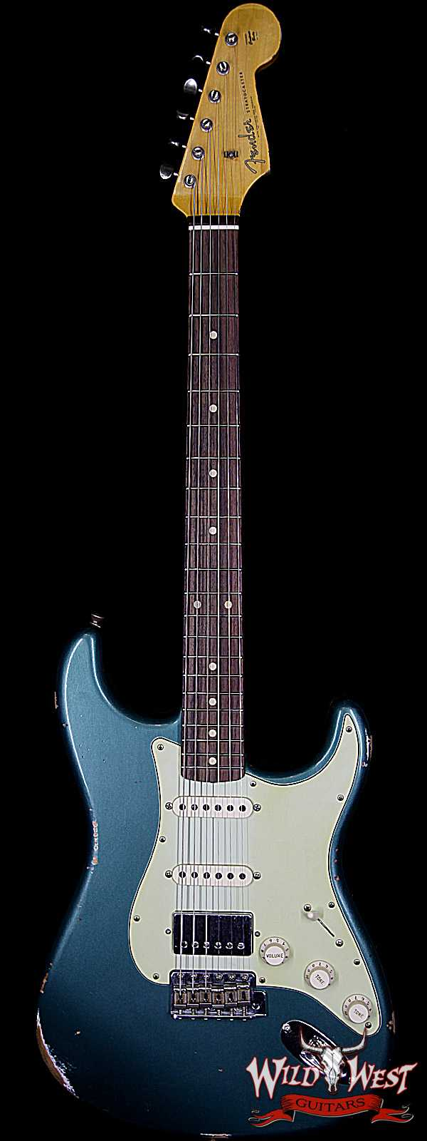 Fender Custom Shop 1962 Stratocaster HSS Relic EVH Pickup Rosewood Fingerboard Sherwood Green Metallic