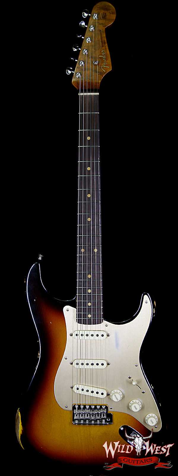 Fender Custom Shop 1960 Stratocaster Relic Roasted Birdseye Neck Rosewood Fingerboard Faded 3 Tone Sunburst