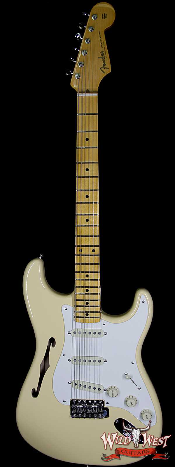 Fender USA Eric Johnson Signature Stratocaster Thinline Semi-Hollow Body Maple Neck Vintage White