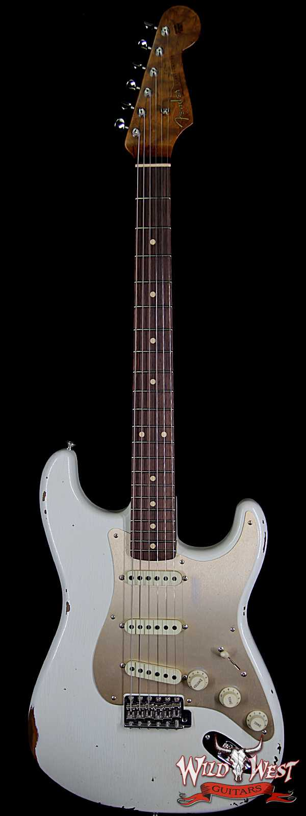 Fender Custom Shop 30th Anniversary Roasted 1960 Stratocaster Relic Birdseye Neck Rosewood Board Aged Olympic White