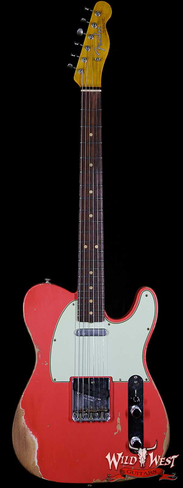 Fender Custom Shop 1963 Telecaster Heavy Relic Rosewood Fingerboard Fiesta Red