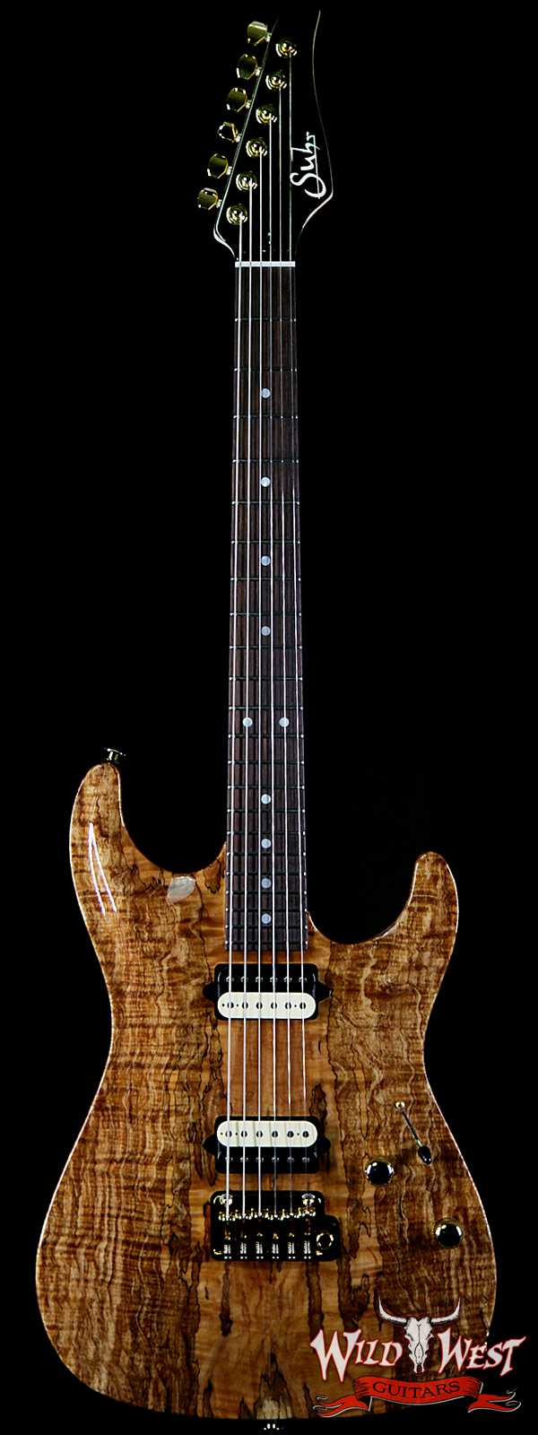 Suhr Carve Top Standard HH Spalted Maple Top with Indian Rosewood Board Natural