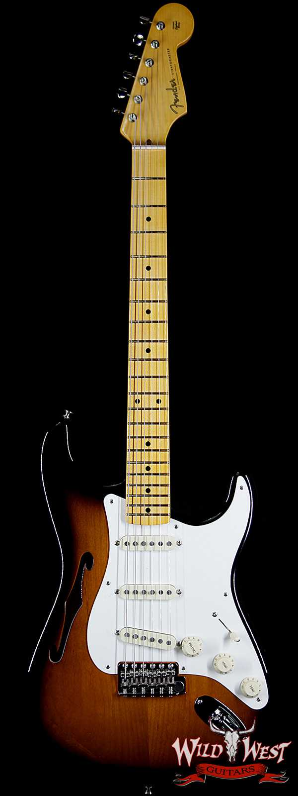 Fender USA Eric Johnson Signature Stratocaster Thinline Semi-Hollow Body 2 Tone Sunburst