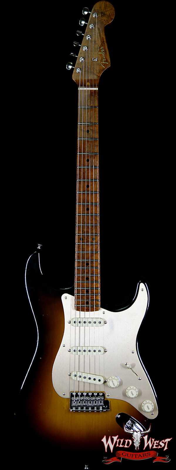 Fender Custom Shop 1956 Stratocaster Relic Roasted Birdeye Maple Neck 2 Tone Sunburst