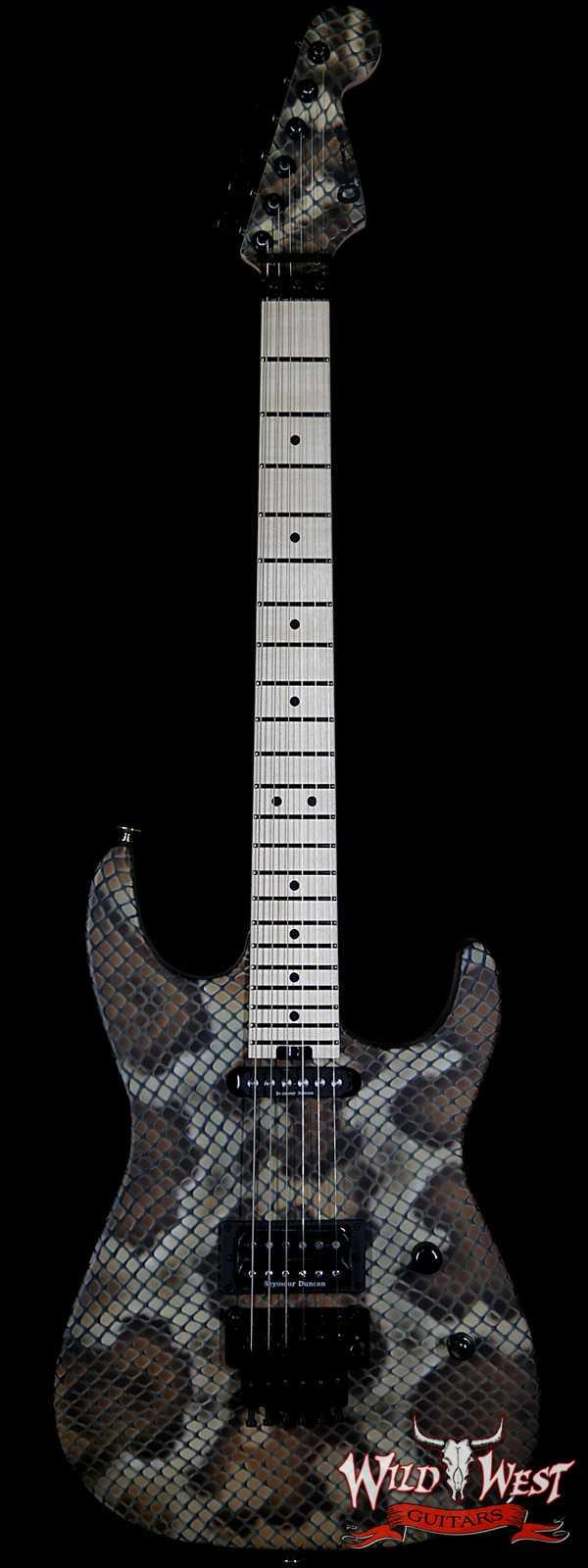 Charvel USA Warren DeMartini Signature Snake Maple Fingerboard Snakeskin