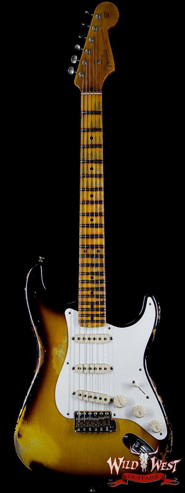 Fender Custom Shop 1957 Stratocaster Heavy Relic Maple Neck 2 Tone Sunburst