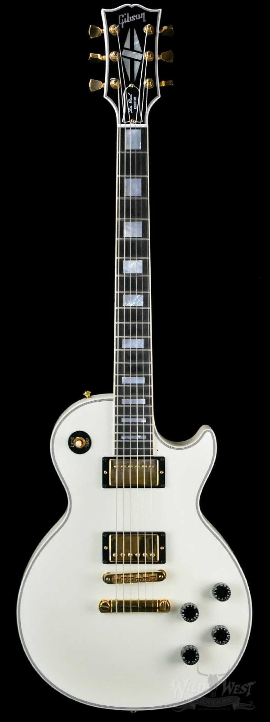 2010 gibson les paul custom in alpine white preowned wild west guitars. Black Bedroom Furniture Sets. Home Design Ideas