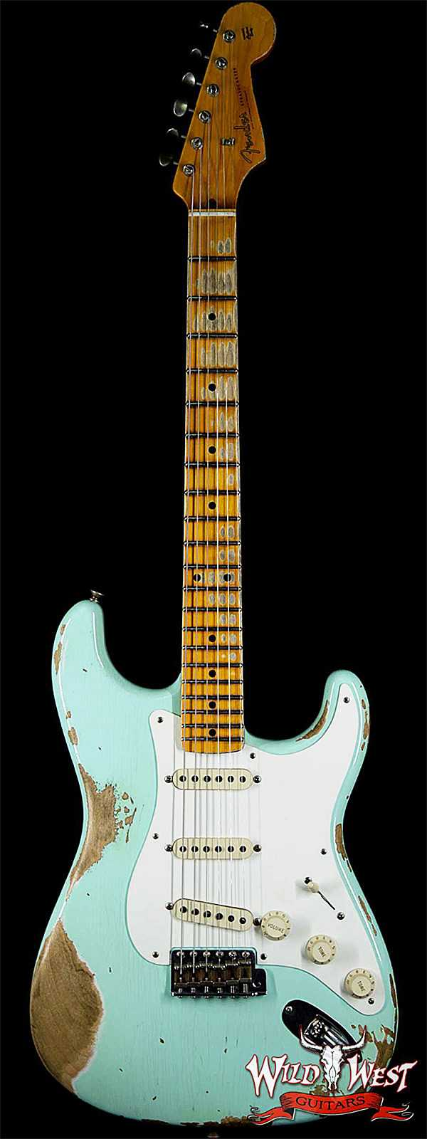 Fender Custom Shop 1957 Stratocaster Heavy Relic Maple Neck Surf Green